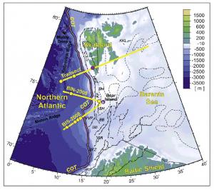 Profile sejsmiczne na Spitsbergenie.