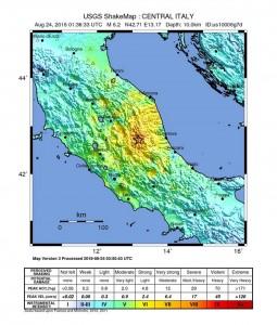 USGS mapa Italy
